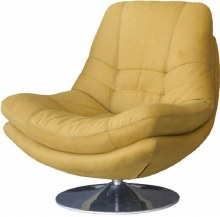 Axis Swivel Occasional Chair Gold