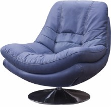 Axis Swivel Occasional Chair Blue