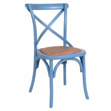 Balmoral Cross Back Chair Blue