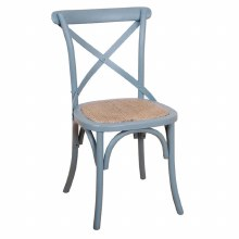 Balmoral Cross Back Chair Grey