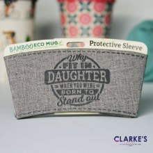 Bamboo Eco Mug Protective Sleeve DAUGHTER
