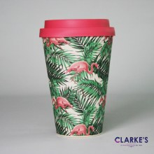 Bamboo Eco Mug Flamingo