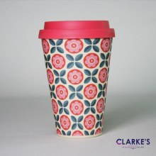 Bamboo Eco Mug Flower Pattern