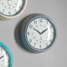 Barbican Wall Clock Slate Colour