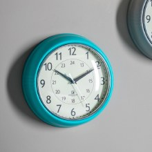 Barbican Wall Clock Teal Colour