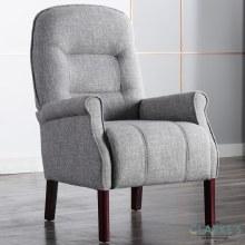 Barna Light Grey Fabrick Armchair