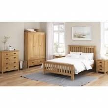 Salisbury Lite oak bed frame