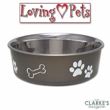 Loving Pets Bella  Small Bowl Expresso