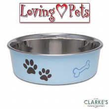 Loving Pets Bella  Small Bowl Murno Blue