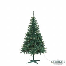 Ben Nevis Pine 6ft Christmas Tree with 100 LED Warm White Lights