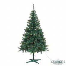 Ben Nevis Pine 7ft Christmas Tree with 150 LED Warm White Lights