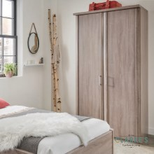 Bern 2 Door Wardrobe White