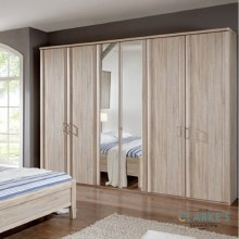 Bern 6 Door Wardrobe Rustic Oak