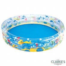 BestWay 3 Ring Inflatable Paddling Pool