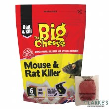Big Cheese Mouse & Rat Killer 6 Sachets