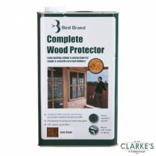 Bird Brand Complete Wood Protector Preserver Dark Brown 5 Litre
