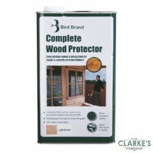 Bird Brand Complete Wood Protector Preserver Light Brown 5 Litre