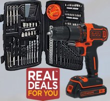 Black & Decker 18v Cordless Drill with Accessories Kit