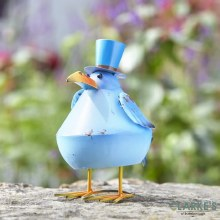Bobbly Bird Blue Garden Figure
