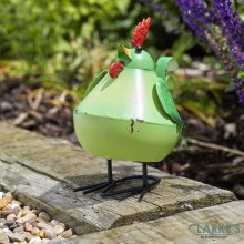 Bobbly Bird Green Garden Figure