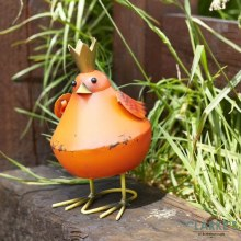 Bobbly Bird Orange Garden Figure