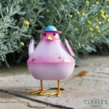 Bobbly Bird Pink Garden Figure
