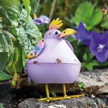 Bobbly Bird Purple Garden Figure