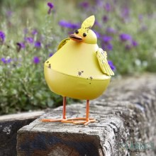 Bobbly Bird Yellow Garden Figure