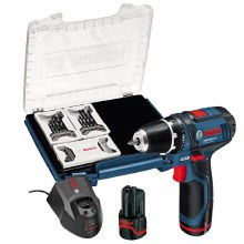 Bosch 10.8V 2 Ah Drill + 39 Pieces Accesories Set