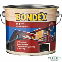 Bondex Matt Wood Protection Ebony 2.5 Litre