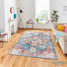 Boston Blue / Fuchsia Rug