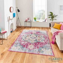Boston Fuchsia / Blue Rug 120 x 170cm