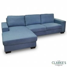 Boston Corner Sofa Left Chaise Light Blue