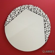 Brina luxury round wall mirror 100cm