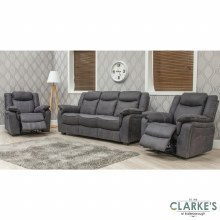 Brooklyn 1 Seater Recliner Charcoal