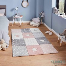Brooklyn Kids Rug Pink 80 x 150cm