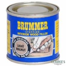 Brummer Stopping Interior Wood Filler Light Walnut 250g