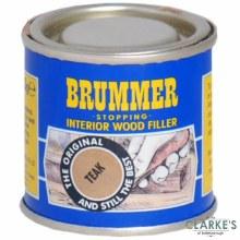 Brummer Stopping Interior Wood Filler Teak 250g