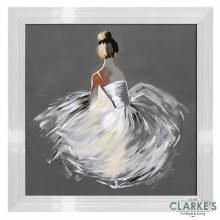 Balerina - Framed Wall Art 82 x 82 cm