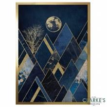 Dark Mountain - Framed Wall Art 50 x 70 cm