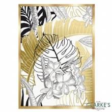 Gold Leaves - Framed Wall Art 54 x 74 cm