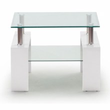 Calico Lamp Table White