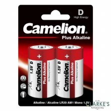 Camelion Plus Alkaline D Batteries Pack of 2