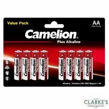 Camelion Plus Alkaline AA Batteries 8 Pack