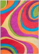 Candy Swirls Kids Rug 67 x 120cm