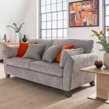 Cantrell 3 Seater Sofa Silver