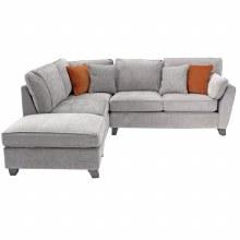 Cantrell LHF Corner Sofa Silver