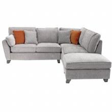 Cantrell RHF Corner Sofa Silver