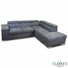 Capri Plus Right Hand Facing Corner Sofa Bed with Ottoman | Available in the Shop