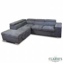 Capri Plus Left Hand Facing Corner Sofa Bed with Ottoman | Available in the Shop